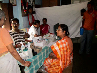 Free eye care camp conducted at Beldiha